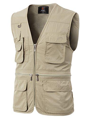 H2H Mens Multi-Pockets Travel Hunting Fishing Vest Ivory US SAsia M KMOV0113