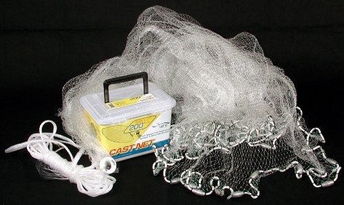 Ahi USA 200 Series Cast Fishing Net Clear 4-Feet