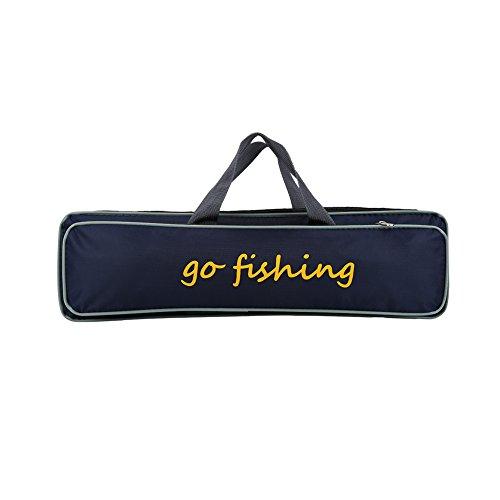 Alomejor Fly Fishing Bag Folding Fishing Rod Case Fishing Pole Tools Storage Bag Fishing Gear Tackle for Outdoor Fishing