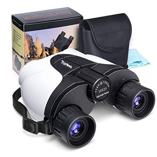 10x25 BinocularsKids BinocularsSmall Compact Lightweight BinocularsPortable Waterproof BinocularsFolding Spotting Binoculars For Bird Watching Hiking Camping and Hunting Best Gift for Adults Kids