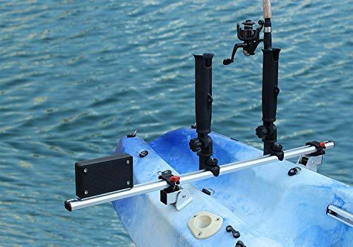 Kayak Fishing Trolling Motor Mount Universal  Two Rocket Rod Holder