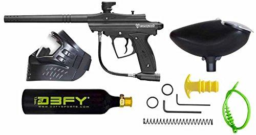 D3FY Conqu3st Semi Auto Paintball Marker Combo Kit Black