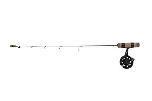 Frabill Straight Line 101XLA 32-Inch Quick Tip Ice Fishing Combo Black
