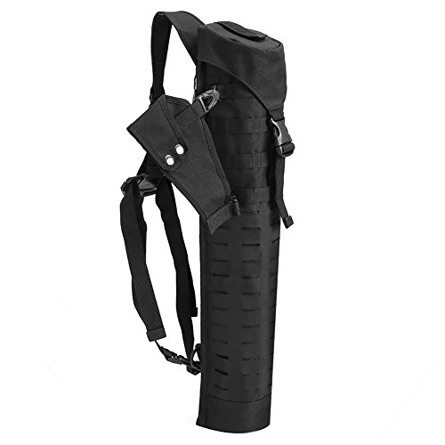 Pellor Outdoor Hunting Adjustable Straps Shoulder Waist Arrow Quiver Black Height 224in