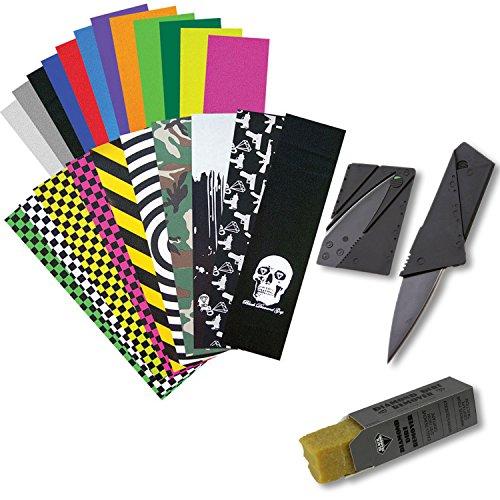 Black Diamond Skateboard Griptape 9 x 33 Grip Tape  Grip Knife  Grip Cleaner
