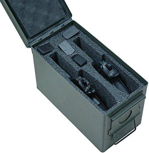 Case Club 2 Pistol Holder 50 Cal Ammo Can Foam Pre-cut Closed Cell Military Grade Foam