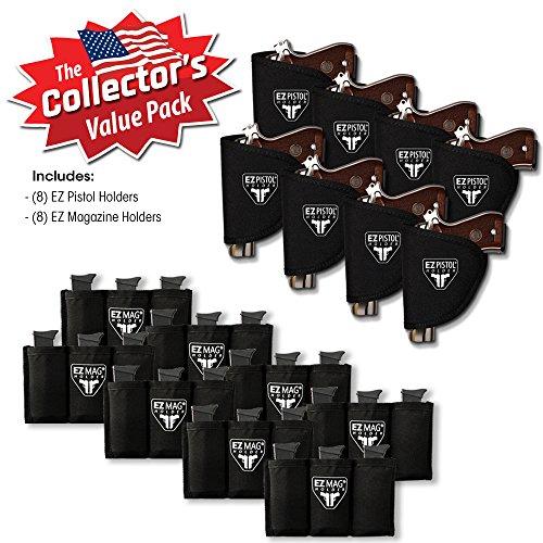EZ Pistol Holders Value Pack - 8 Pistol Holders and 8 Magazine Holders