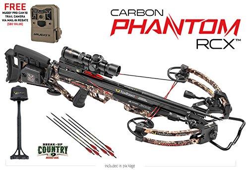 TenPoint Carbon Phantom RCX Crossbow Package with RangeMaster Pro Scope 6 Pro Elite Carbon Arrows 3-Arrow Instant Detach Quiver