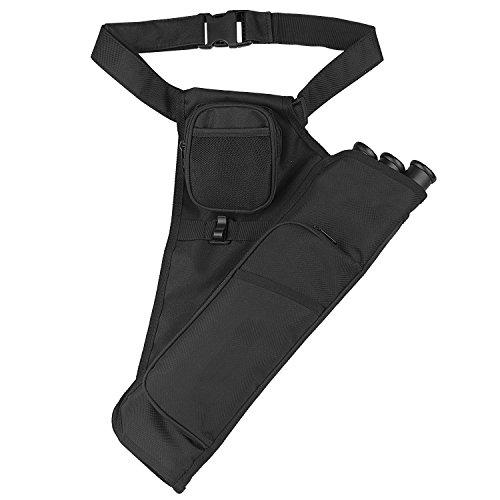 AMYIPO 3-Tubes Colourful Duty Hip Quiver Training Archery Arrow Quiver Holder Waist Bow Bag Pouch 3 Tube - BLACK