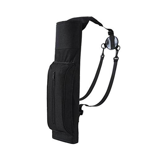 Jili Online 213 x 67 Waterproof Ultralight Archery Quiver Hunting Training Black Arrow Quiver Holder Bag Shoulder BagBackpack with Zipper Pocket