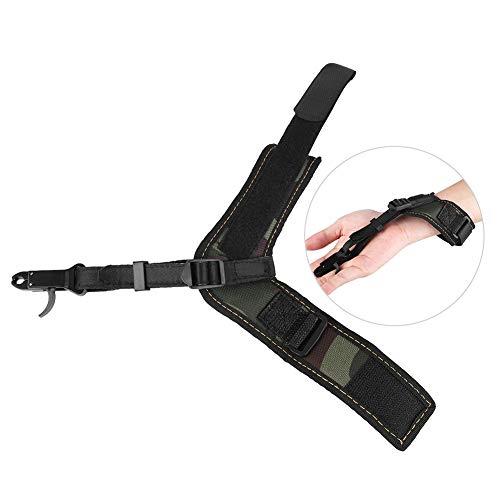 Fsskgx Archery Release Aids Trigger Adjustable Compound Bow Caliper Arrows Shooting Wrist Strap Archery Accessories - Camo