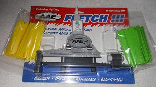 AAE Fletching Jig Kit w2100 pkg 4 inch Vanes Bullseye Glue