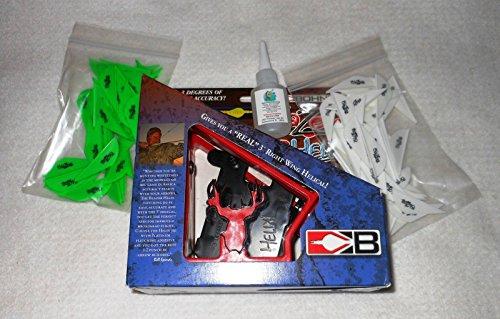 Bohning Blazer Vane Helix Fletching Jig Kit wBlazer Vanes Glue