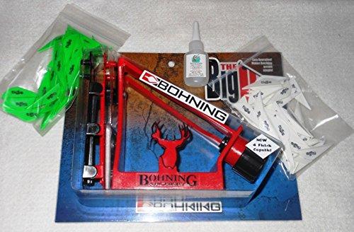 Bohning The Big Jig Fletching Jig w2 Clamps Kit wBlazer Vanes Bullseye Glue