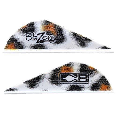 Bohning True Color 2 Blazer Vanes White Leopard Print Blazer Vane 100pk