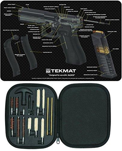Ultimate Arms Gear Gunsmith Armorers Cleaning GLOCK Cutaway Color 3D Gun Mat  17pc Handgun Pistol Cleaning Kit 22357389mm4445