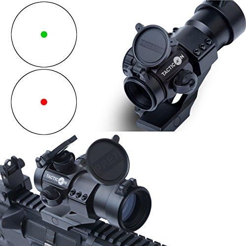 TACTICON TM Predator V1 Red Dot Sight  Green Dot Sight  Rifle Optic Reflex Sight