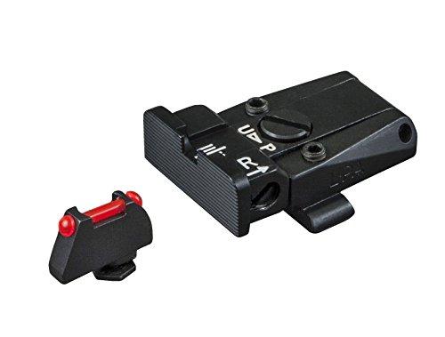 Glock Fully Adjustable Sight Set - Black Rear Red Fiber Optic Front