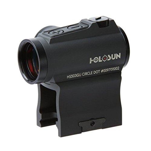 HOLOSUN HS503GU Circle Micro Red Dot Sight 2 MOA Dot 65 MOA Circle Black