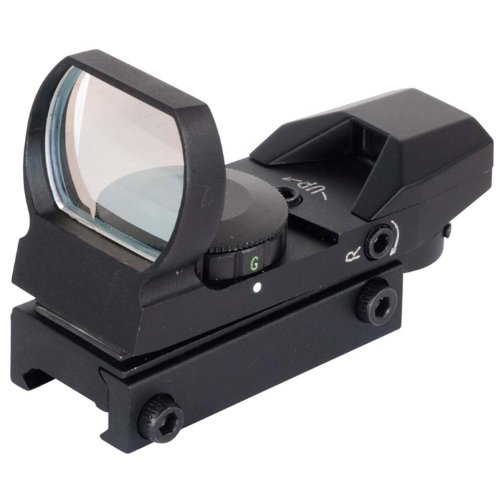 NcSTAR Red Dot Sight TACTICAL RED DOT WITH 4 DIFFERENT RETICLESBLACK