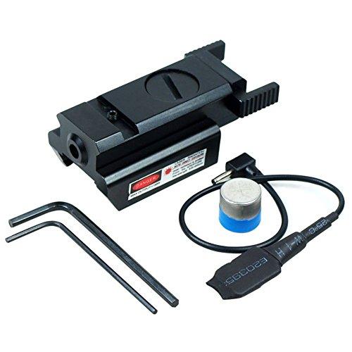Micnaron Rifle LaserGun laserGun Sights Rail mount Low Profile Red Dot Laser Sight for Pistols