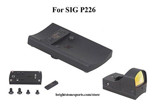 Vector Optics Sphinx Mini Red Dot Scope Sight Slide Mount Base for Pistol SIG Sauer P226 Color Black