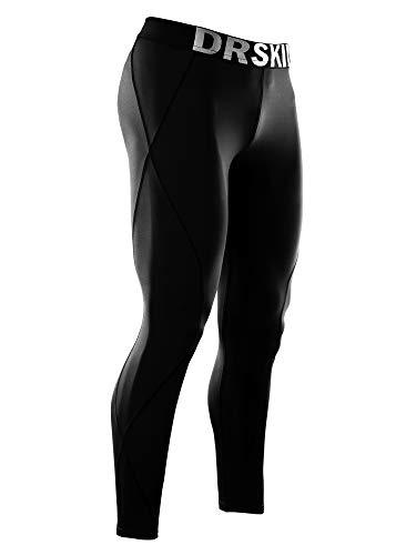 DRSKIN Mens Compression Cool Dry Sports Tights Pants Baselayer Running Workout Active Leggings Yoga Rashguard