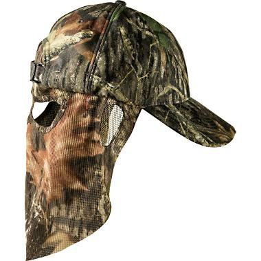Mossy Oak Break-Up Camouflage Cap Camo Hunting Hat with Rear Face Mask Technology 59 cm Adjustable