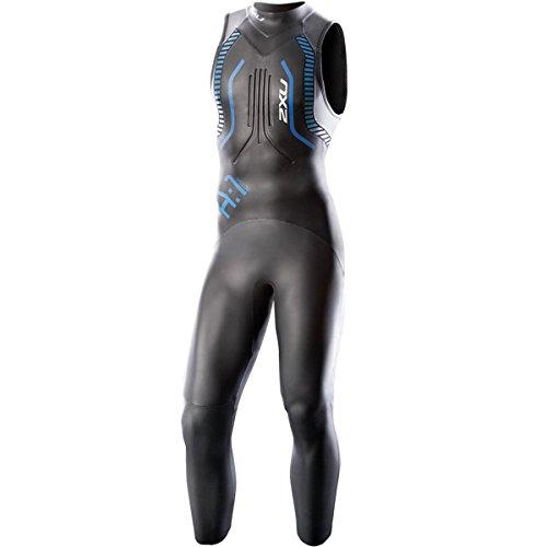 2XU Mens A1 Active Sleeveless Wetsuit XX-Large BlackCobalt Blue