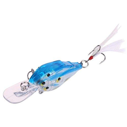Fishing Baits1pc 105cm6g Hard Polished Fish School Sea Fishing Baits Leather Hook Bait Blue