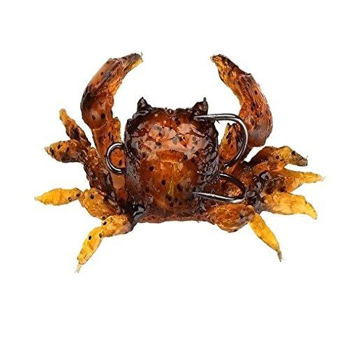 Outsta Road Bait Bait Simulation Crab Bait 8cm  30g With Hook Sea Fishing Bait B