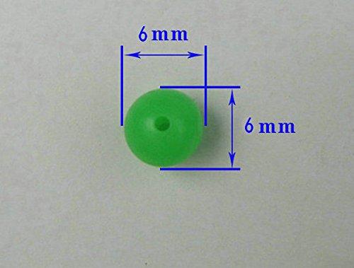 100pcs Round Plastic Fishing Glow Bead Green Fishing Tackle Bait Tools Eggs Small 6mm