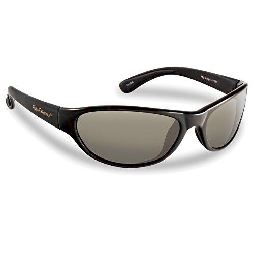 Flying Fisherman Key Largo Polarized Sunglasses Matte Black Frame Smoke Lens