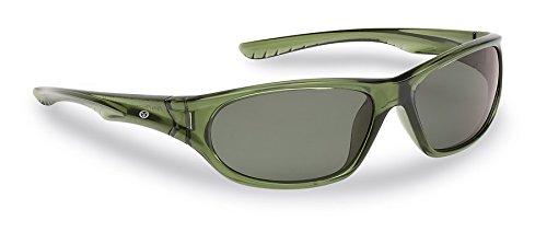 Flying Fisherman Remora JR Angler Polarized Sunglasses Crystal Green Frame Smoke Lenses