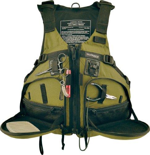 Stohlquist Fisherman Personal Floatation Device Cactus LargeX-Large