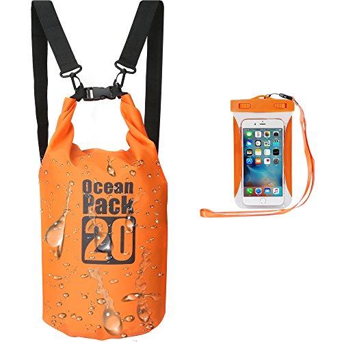Kayaking Waterproof Dry Bags Premium Floating Dry Bags with Waterproof Phone Case and Adjustable Shoulder Strapfor BoatingCanoeingFishingRaftingSwimmingCamping10LSingle Strap