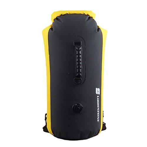 Dimart Outdoor Waterproof Heavy Duty Floating Compression Lightweight Dry Sack Bag Backpack with Adjustable Straps 60LBlack