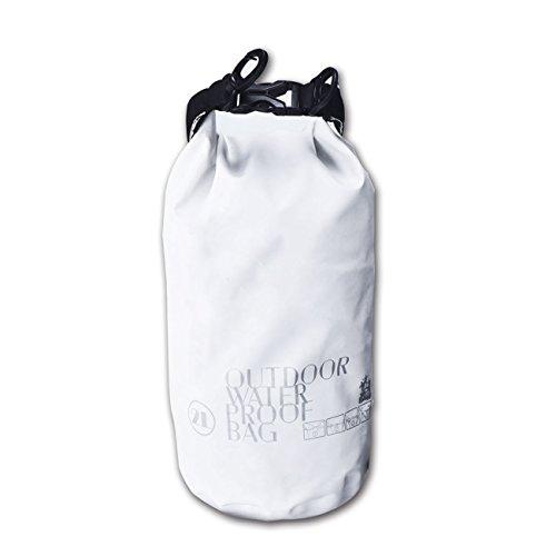 Multipurpose Outdoor Waterproof Bag – 2L Ultimate Lightweight Dry Bag Waterproof Level 3 for Boating Hiking Camping Fishing Kayaking Snowboarding Rafting etc White 2L