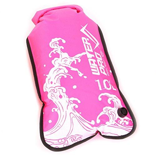 Water Pro Wave Lightweight Dry Bag w Purge Valve Pink 10L