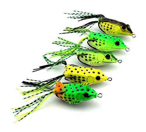 MELIP Frog Snakeheads Bait Fishing Lures Bass Soft Bait 342oz5pcs