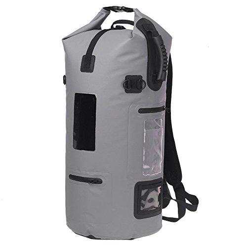 ESONE 40L Roll Top Waterproof Dry Bag Backpack for Boating Kayaking Fishing Rafting Swimming Camping