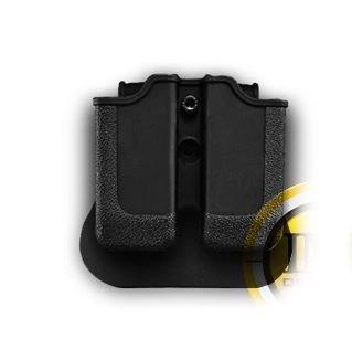 Glock 32 Double Magazine Pouch Black Fits Glock 32 and a genuine IGWSs firing range earplugs kit