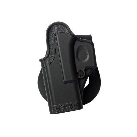 Left Hand Glock 26 Holster One Piece Polymer Gun Holster 4 Gen Compatible New IMI Israel Model GK1 Black and a genuine IGWSs firing range earplugs kit