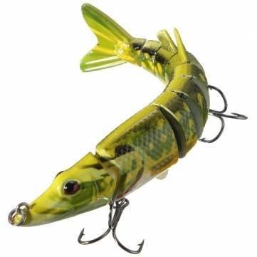 125Cm Multi-Jointed Pike Muskie Fishing Lure Fakebait Hard Hook Fish Baits