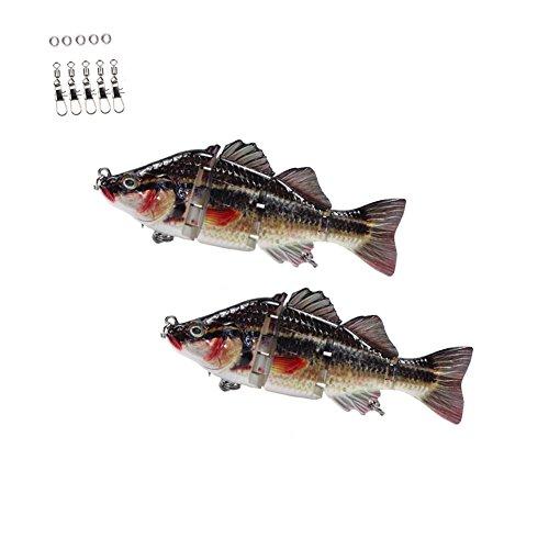 Croch Jointed Swimbait 8 segment Pike Muskie Fishing Lure Hard Baits 2pcs