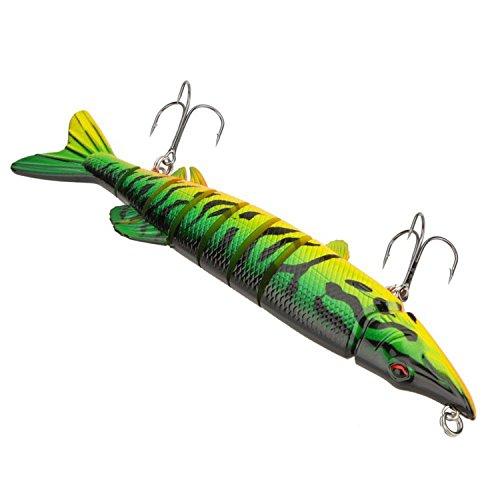 YuCool 820cm 66g Lifelike Multi-jointed 8-segement Pike Muskie Fishing Lure Swimbait Crankbait Hard Bait Fish Treble Hook Tackle