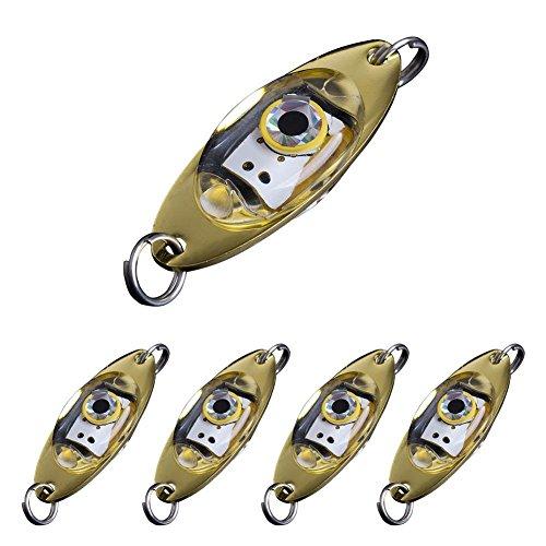 5pcs LED Fish Lures Bait Light TOPIND Outdoor Mini Deepwater Fish Shape Led Flashing Lamp Light Fishing Tackle Lure Bait