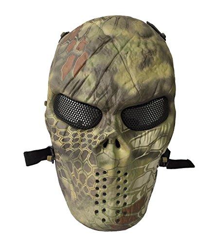Airsoft Skull Nomad Metal Mesh Mask Mandrake Highland