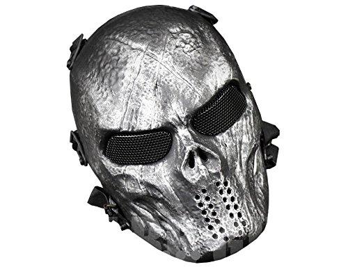 JustBBGuns Airsoft Skull Nomad Metal Mesh Mask Iron Surface