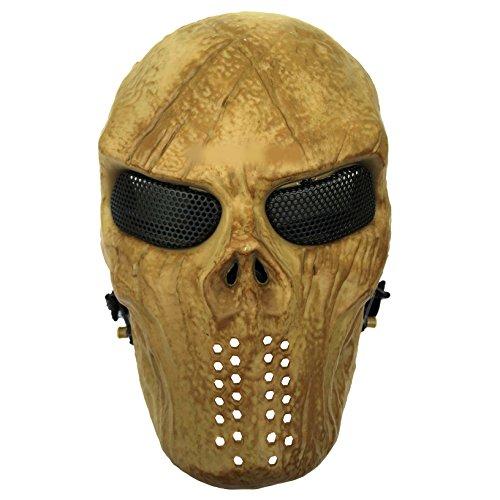 JustBBGuns Airsoft Skull Nomad Metal Mesh Mask Tan